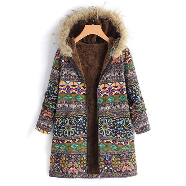 Womens Fluffy Fur Coats Winter Hooded Bomber Outwear Overcoat Parka Hoody Jacket