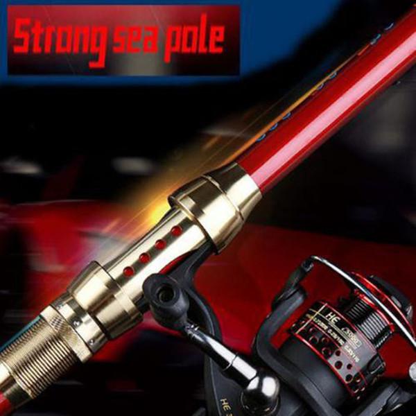 TAIYU 2.1M-3.6M Portátil 5-7Section Carbon Sea Spinning Hand Fishing Rod Pole Super Long Fishing Rod