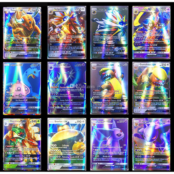 Flash Trading Card XY GX MEGA English pokemons Cards EX Charizard Venusaur Blastoise Kids Gift Figures Card Games Toy
