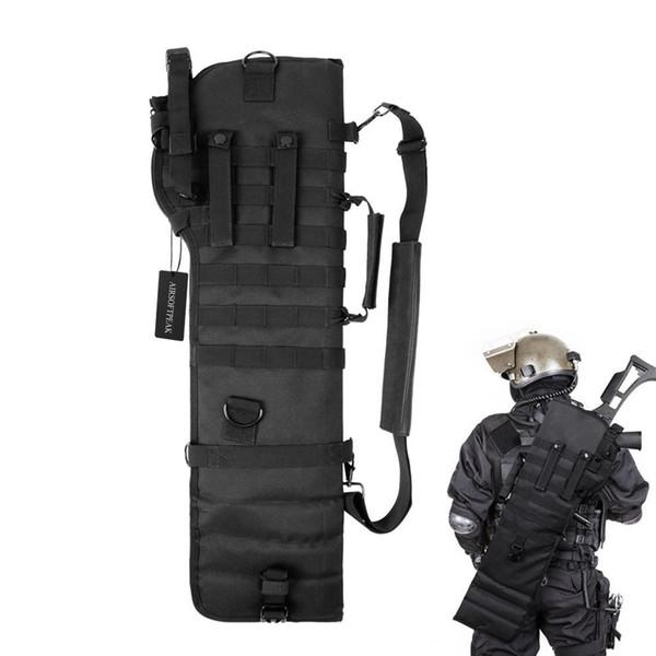 Тактический Пистолет Breacher's Shot 75 СМ Ружье Ножны Кобура Molle Винтовка Слинг Сумка для Охоты на Открытом Воздухе Черный # 109537