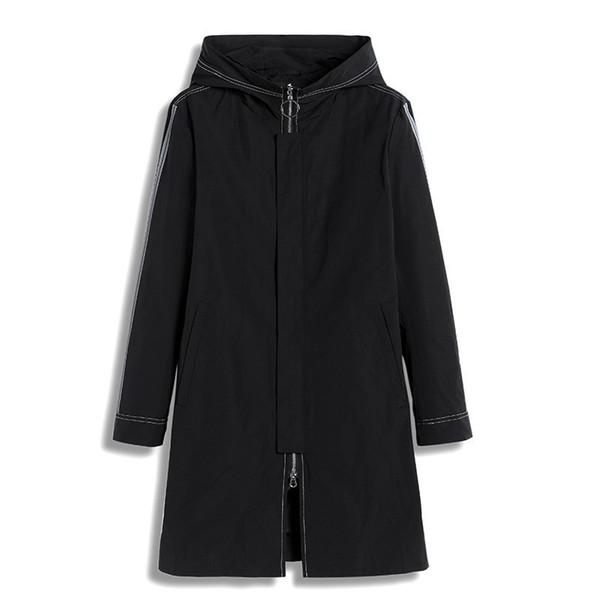 Pioneer kampı erkek palto marka giyim rahat yeni stil uzun trençkot erkekler kapşonlu