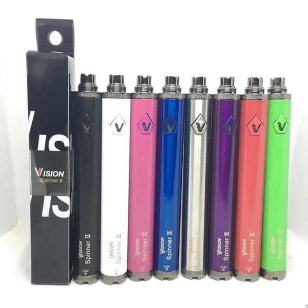 Vision Spinner II 2 Battery Vape Pen 1650mAh Ego C Twist Battery E Cigarette 3.3V-4.8V Variable Voltage Adjustable Vape Battery