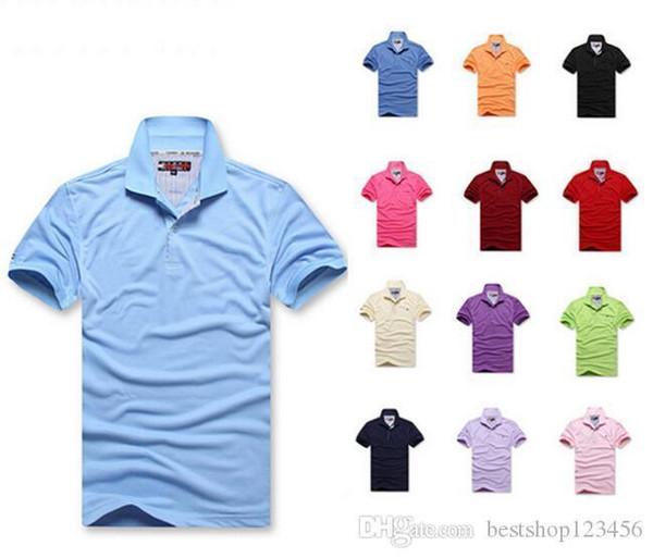 2019 New Fashion Men Crocodile Embroidery Polo Shirt Solid Color Slim Fit Polo Men Short Sleeve Mercerized Casual Polos Shirt Mens S-6xl Tt5