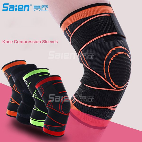 Knee Brace Support with Adjustable Compression Straps for Running,Jogging, Cross Fit, Sports, Joint Pain Relief. Arthritis and Injury Recove