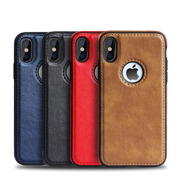 Nuovo per iPhone XS max XR X 8 7 6 6s Plus Custodia per cellulare in pelle di lusso Gain Business in stile Soft Back Cover
