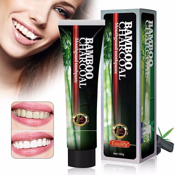 top popular MABOX Fresh Mint Sensitivity Bamboo Charcoal Toothpaste Extra Whitening Relieve Tooth Sensitivity Protects Against Cavities 120g 2021