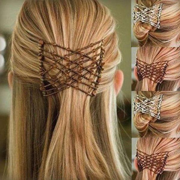 Magic Hair Comb-Dropshipping Flexible Schmetterling Haarspange Magic Elastic Comb Frauen Elastic DIY Toll Vintage Headwear
