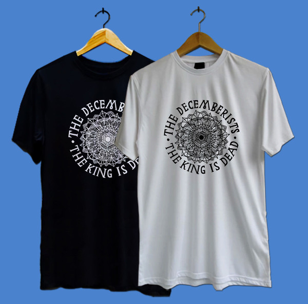 The DECEMBERISTS logo rock band the king is dead Men/'s White S to 3XL