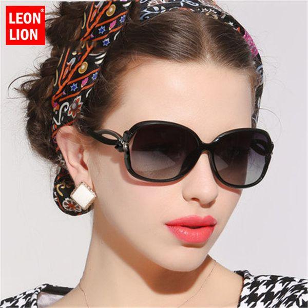 LeonLion 2018 Schmetterling Spiegel Fuß Sonnenbrille Frauen Kunststoff Oval Sonnenbrille Luxus Reise UV400 Lunette De Soleil Femme