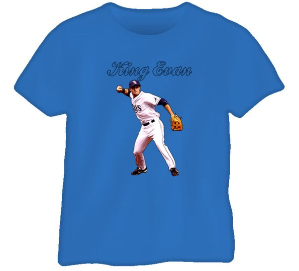 Kral Evan Longoria T Gömlek Erkek Kadın Unisex Moda tshirt Ücretsiz Kargo