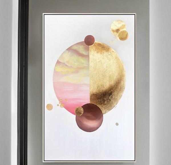 Neue Dekorative Kunst 100% Handgemachte Ölgemälde Auf Leinwand Moderne Abstrakte Wandbild Gemälde Wohnzimmer Decoracion a-08