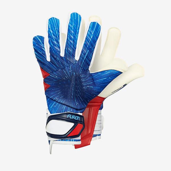 Guanti da portiere di calcio da calcio FULL Latex Professional senza protezione per il dito Portiere portiere GK Guanti per taglio piatto Palm