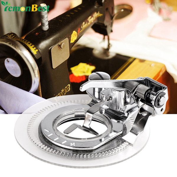 IY Apparel Fabric Sewing Machines Fancy Flower Embroidery Round Stitch Sewing Machine Accessories Presser Foot Presser Feet For Low Shan...