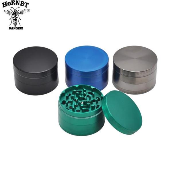Nouveau broyeur de fumée en métal en alliage de zinc à quatre couches avec un diamètre de 63 mm