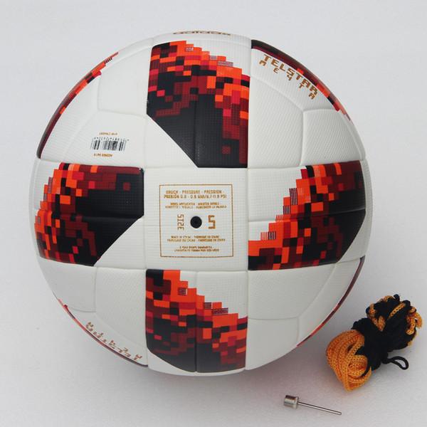 2018 World Cup Soccer Ball Russian Finals Match ball PU top quality seamless paste skin Red football ball