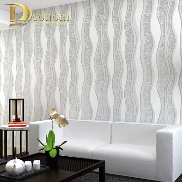 Dcohom Modern Simple Luxury Striped Wallpaper For Bedroom Living Room Sofa  TV Background Walls Decor 3D Wall Paper Rolls