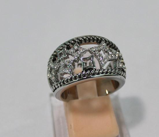 new hot luxury women's female's ladies punk dj David Ym hollow out stars crystal diamond ring crystal diamonds finger rings free shipping
