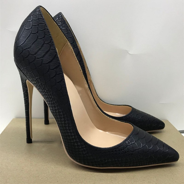 Free shipping fashion women Pumps brand new Casual Designer Black snake python high heels pumps shoes bride wedding 12cm 10cm 8cm party shoe