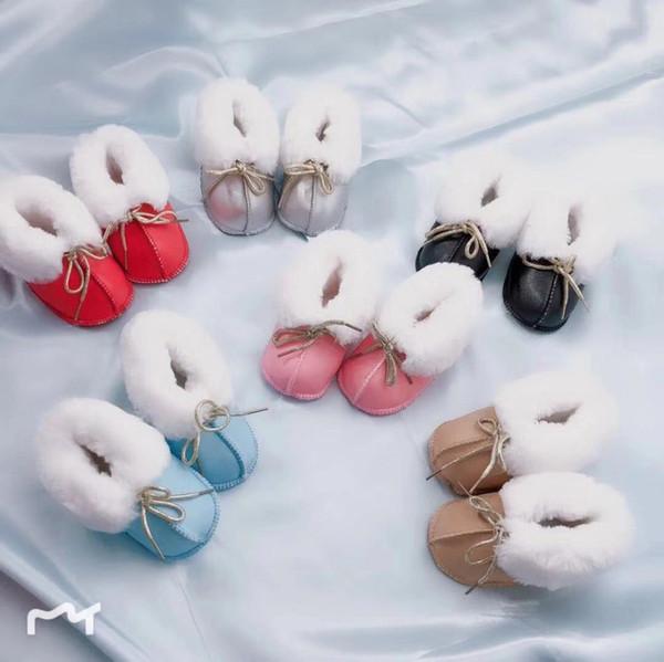Marque Ugly Baby Kids Shoes Premiers Marcheurs pour 0-16 Mois Doux En Cuir Véritable Épais En Peluche Bébé Garçons Filles Chaussures D'hiver