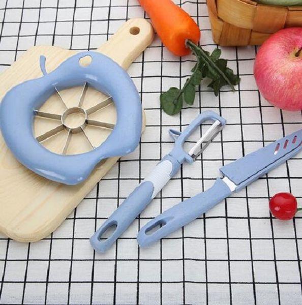 Accueil cuisine gadgets multi-fonctions de coupe de pomme en acier inoxydable ensemble diviseur de fruits de légumes éplucheur produits de vente chauds customize
