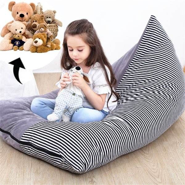 Brilliant 2019 New Extra Large Stuffed Animal Storage Bag Chair Kids Toys Storage Bags Seat Velvet Pouch Stripe Sofa Chair 2019 From China Mugs 10 0 Squirreltailoven Fun Painted Chair Ideas Images Squirreltailovenorg