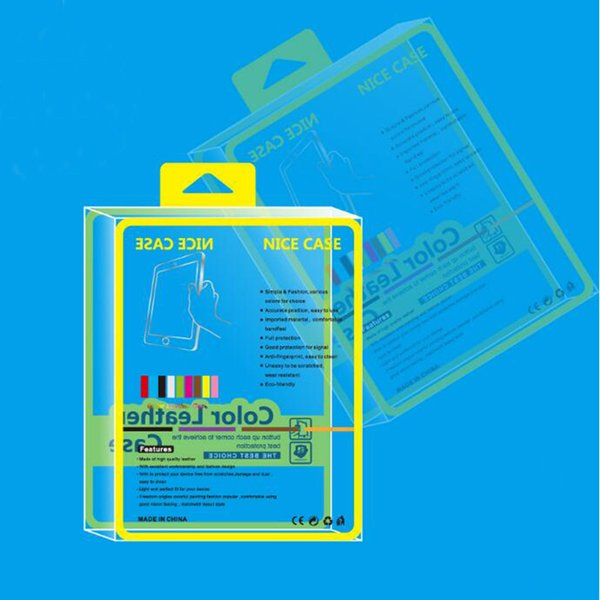 Yellow Clear 10 Inch PVC Plastic Retail Package Packing Box For Ipad 9.7 Inch 2018 Case For Ipad Air 4 Leather Case