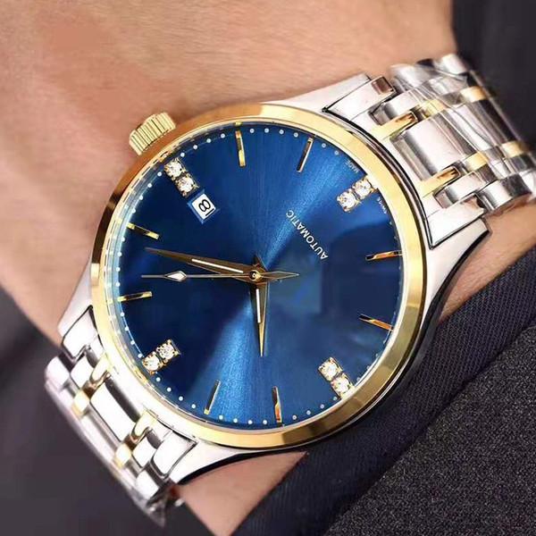 2019 mens fecha de lujo del reloj caliente de acero a prueba de agua de precisión serie de mariposa de 41 mm de diámetro automático para hombre relojes de regalo