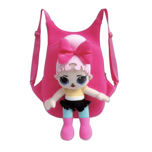 3D Cartoon Surprise Doll Backpacks Knapsack LOL Dolls School Bags Plush Doll Surprised Girls Shoulder Bag Kids Gift