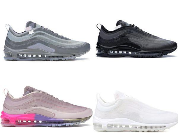 с коробкой PK Обновлено 2019 Мужские воздушные кроссовки кроссовки для мужчин Марка Дизайнер Спортивная обувь Белый Размер Menta US7-12