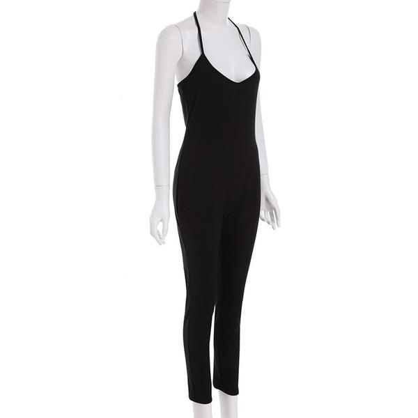 Summer Ladies Plus rompers womens jumpsuit Sleeveless Deep Spaghetti Strap V Neck Beach coveralls Harem Romper Playsuit