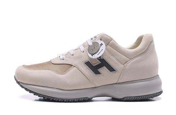 Varış Yeni 2019 Ayakkabı Süet Malzeme Erkekler Lüks Tasarımcı Ayakkabı Erkekler Moda Ayakkabı Yürüyüş Sneakers