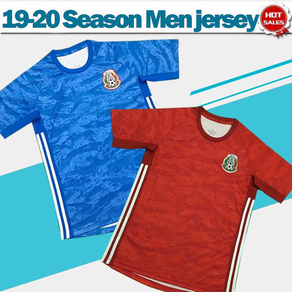 2020 Mexique gardien rouge maillots de football 19/20 équipe nationale bleus de football maillots de football hommes uniformes de football en vente