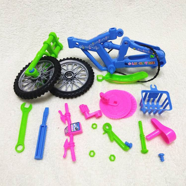 Free shipping large simulation Disassembly Bicycle model toy Assemble bicycle Decoration child DIY bicycle Model toy