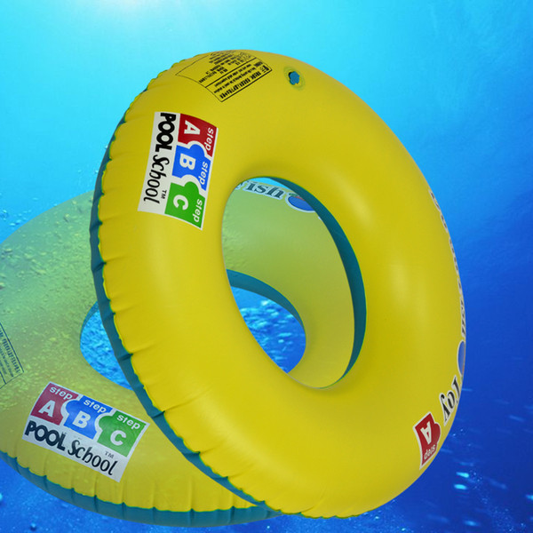 Toys and Gifts Hot Sale Thickening PVC Mateial Inflatable Swimming Ring With Life Buoy Handle For Kids/Adults