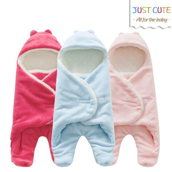 Nouveau bébé emmaillotage molleton Couverture pour bébé et garder Thicken Enveloppe chaud pour bébé nouveau-né