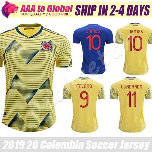 World Cup 2020 Colombia.2019 James Jersey 2020 World Cup Soccer Jersey James Rodriguez Soccer Uniform 19 20 Yellow Cuadrado Falcao Football Shirts From Bzcheetah 17 01