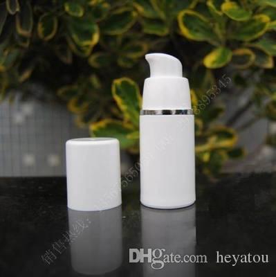 pompa senz'aria di colore bianco della bottiglia 15ml PP bianca all'ingrosso 2500ml per lozione bottiglia di vuoto crema BB