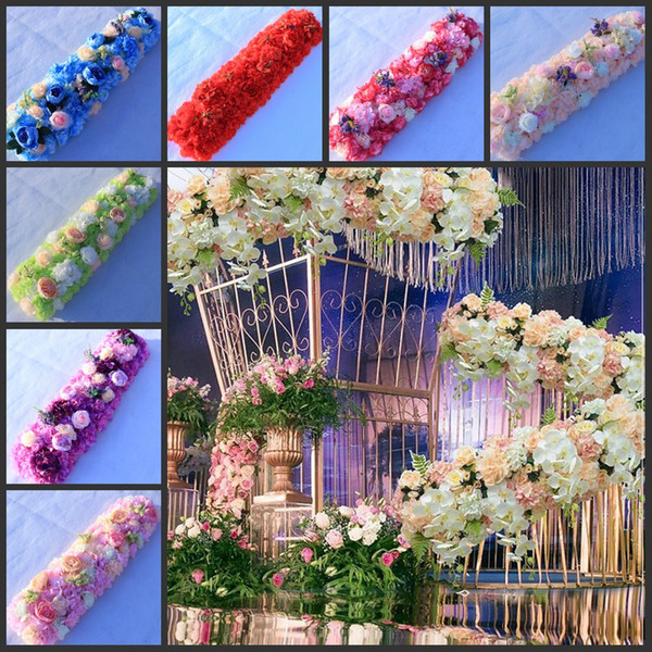 25CMx 100CM Wedding Decoration Arch Flower Rows Party Aisle Decorative Road Cited Centerpieces Supplies 10pcs/lot Free Shipping