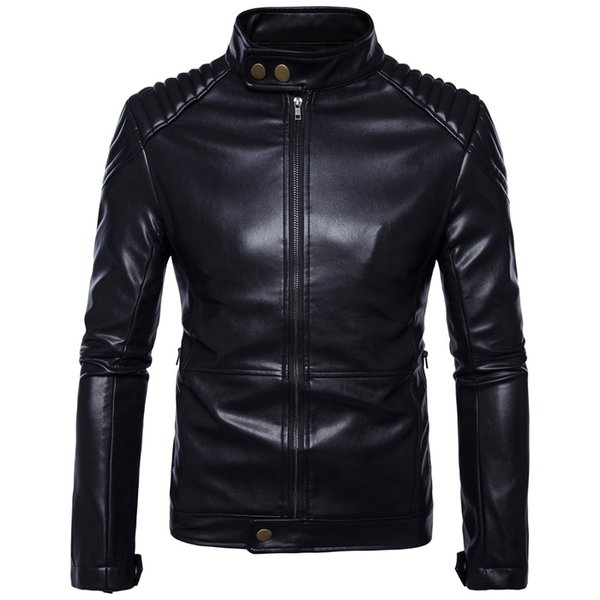 Retro Motorcycle Leather Jacket Mens Coat Casual Punk Sheepskin Moto Jacket Biker Windproof Motor Clothing plus Size 5XL