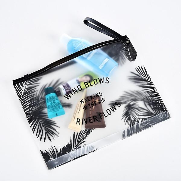 Borsa per trucco trasparente impermeabile in PVC Borsa da viaggio per cosmetici Borsa da viaggio Borsa da viaggio Custodia per articoli da toeletta