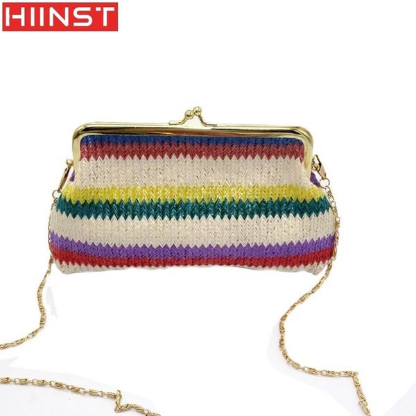 Cheap HIINST Ladies Knitting Rainbow Pattern Wallet Shoulder Bag leather bag shoulder bags L730