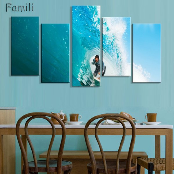 No Frame 5Panels Printed Orchid Flower Canvas Oil Painting Cuadros Decoracion Wall Picture In Living Room Modern Canvas Art-03