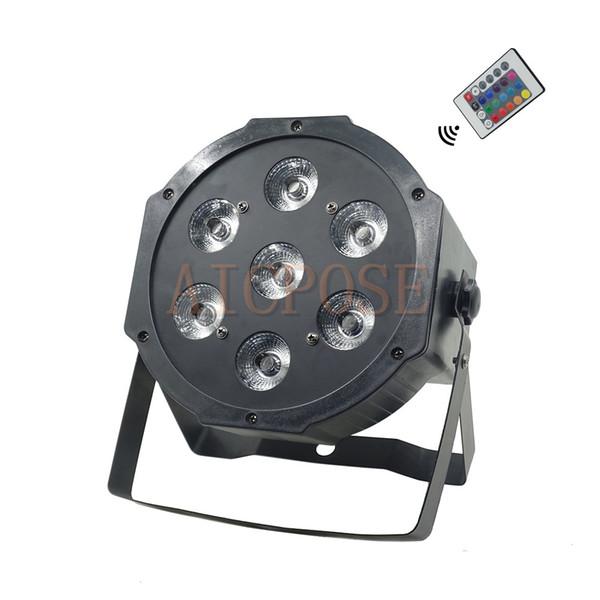 7x12W RGBW 4in1 Led Par Lights con control remoto Big Lens Flat Par Led con DMX512 Disco Lights Professional Lighting Stage