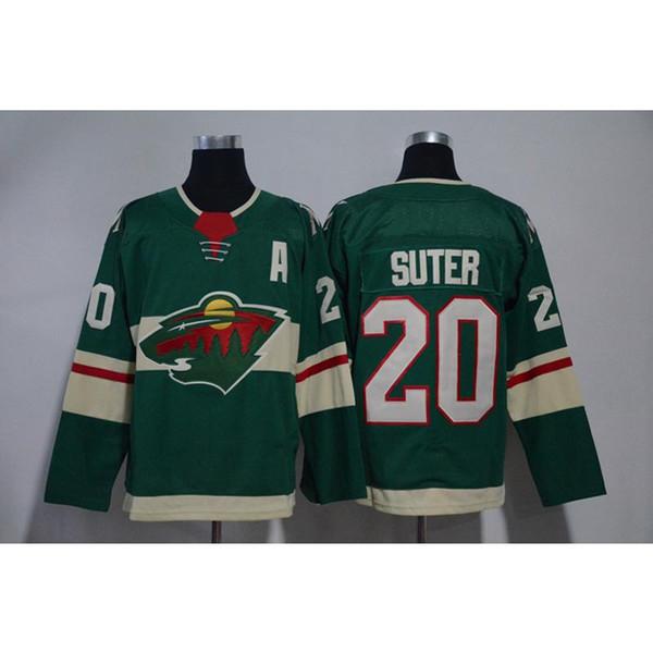 Mens Minnesota Wild 100th Anniversary Ryan Suter Home Away Green White Hockey Jersey All Players In