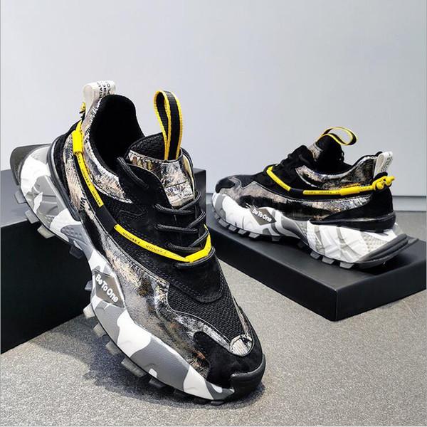 Modest Boş Günlük Ayakkabılar Sneaker üçlü Kaymaz ucuz 2020 açık hava koşu yürüyüş Deri baba Ayakkabı Sandalet Erkekler Kadın tek ayakkabı