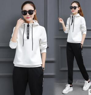 Primavera 2017 nuove donne coreane abbigliamento sportivo sportivo a maniche lunghe vestito a maniche lunghe maglione due pezzi