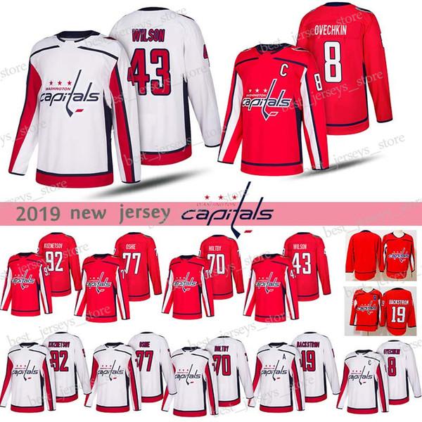 3ba6d6e1bca 8 Alex Ovechkin Washington Capitals Hockey Jerseys 43 Tom 77 T.J. Oshie 19  Nicklas 70 Braden