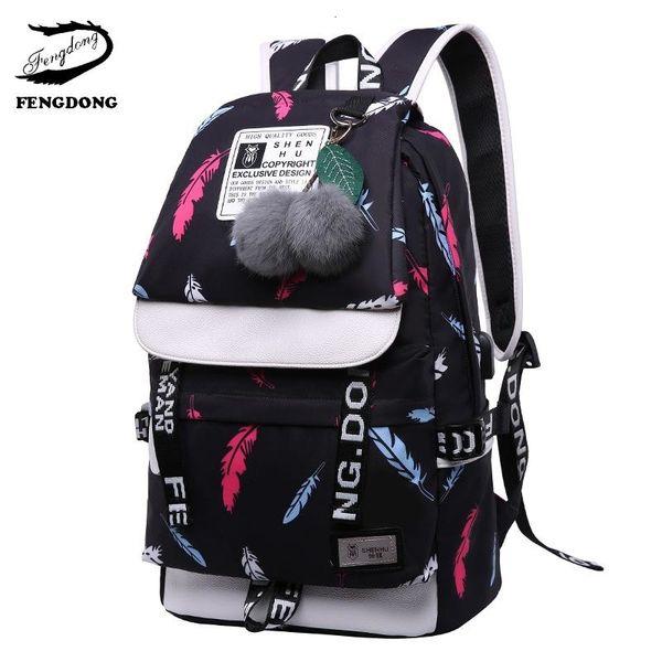 Siyah tüy çanta