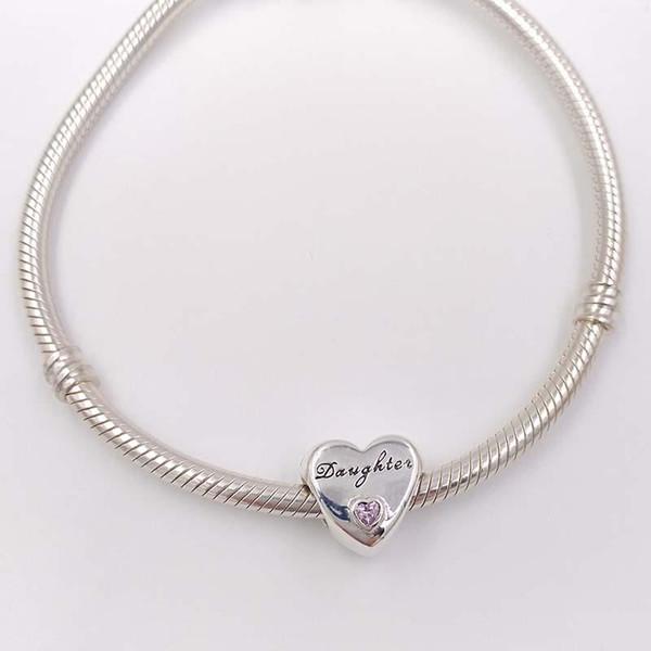 El encanto del amor de Beads Daughter se adapta a las pulseras de la marca de estilo Pandora europeo para la fabricación de joyas