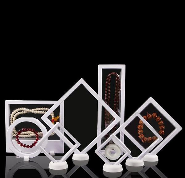 Accessori per membrane in PET Collana di gioielli Ciondolo Confezione Scatola di visualizzazione 3D Bague Gioielli Presentazione Supporto per stand Rack 9 * 23cm